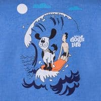 It's A Dogs Life Surfboard T Shirt